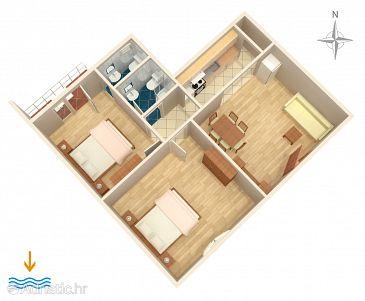 Split, Plan u smještaju tipa apartment, dopusteni kucni ljubimci i WIFI.