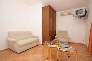 Valbandon, Pokój dzienny w zakwaterowaniu typu apartment, dostupna klima.