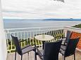 Mošćenice, Terrace u smještaju tipa apartment, s pogledom na more, dopusteni kucni ljubimci i WIFI.