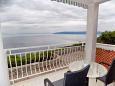 Mošćenice, Terrace u smještaju tipa studio-apartment, s pogledom na more, dopusteni kucni ljubimci i WIFI.