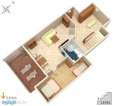 Opatija - Pobri, Plan u smještaju tipa house, dopusteni kucni ljubimci i WIFI.