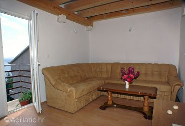 Brela, Living room u smještaju tipa apartment, dopusteni kucni ljubimci i WIFI.
