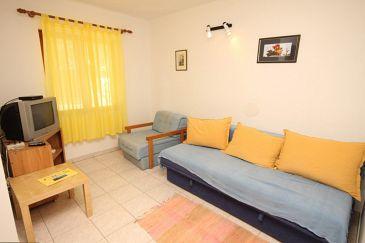 Miholašćica, Pokój dzienny u smještaju tipa apartment, dostupna klima i dopusteni kucni ljubimci.
