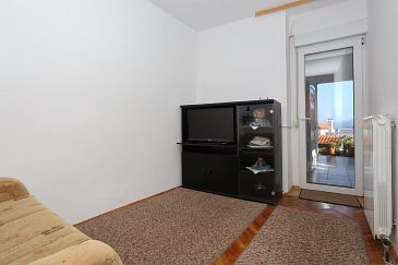 Božava, Living room u smještaju tipa apartment, dopusteni kucni ljubimci i WIFI.