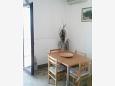 Tisno, Dining room u smještaju tipa apartment, dostupna klima, dopusteni kucni ljubimci i WIFI.