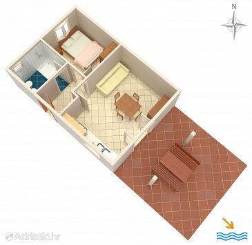 House K-8164 - Vacation Rentals Uvala Statival (Kornati) - 8164