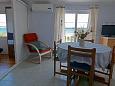 Tkon, Dining room u smještaju tipa apartment, dostupna klima.