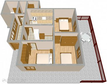 Apartment A-822-a - Apartments Tkon (Pašman) - 822