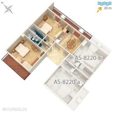 Apartment A-8220-a - Apartments Pašman (Pašman) - 8220