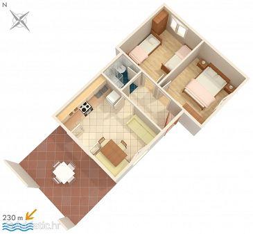 Apartment A-8335-c - Apartments Žrnovska Banja (Korčula) - 8335