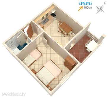 Apartment A-834-b - Apartments Kali (Ugljan) - 834