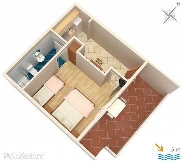 Apartment A-8341-a - Apartments Zaklopatica (Lastovo) - 8341