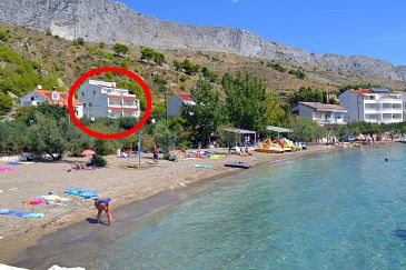 Property Duće (Omiš) - Accommodation 8378 - Apartments near sea with sandy beach.