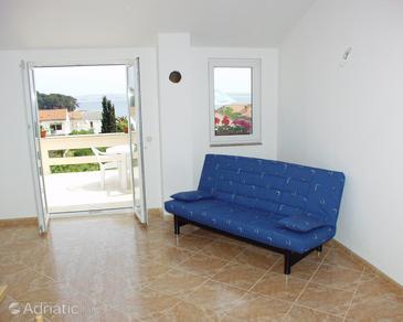 Preko, Living room u smještaju tipa apartment.