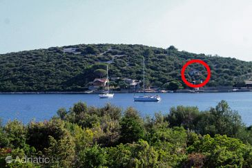 Property Uvala Lađin (Pašman) - Accommodation 8500 - Vacation Rentals near sea with rocky beach.