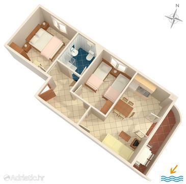 Apartment A-8507-b - Apartments Seget Vranjica (Trogir) - 8507