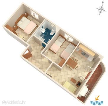 Apartment A-8507-c - Apartments Seget Vranjica (Trogir) - 8507
