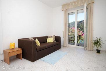 Slano, Living room u smještaju tipa apartment, dostupna klima i WIFI.