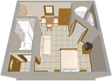 Studio flat AS-854-a - Apartments Drage (Biograd) - 854