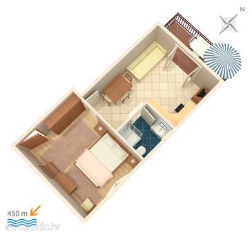 Apartman A-860-e - Apartmanok Biograd na Moru (Biograd) - 860