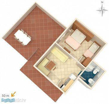 Apartment A-8615-b - Apartments Komarna (Ušće Neretve) - 8615