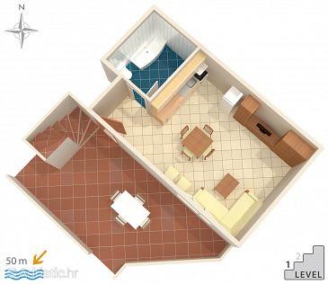 Apartment A-8615-c - Apartments Komarna (Ušće Neretve) - 8615