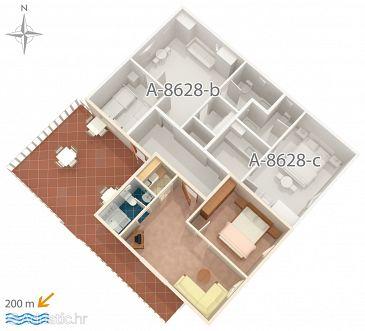 Apartment A-8628-a - Apartments Povlja (Brač) - 8628