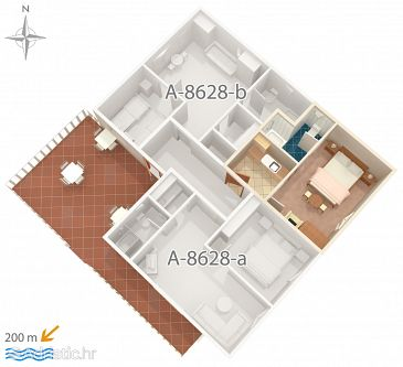 Apartment A-8628-c - Apartments Povlja (Brač) - 8628