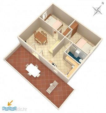 Apartment A-8629-a - Apartments Rastići (Čiovo) - 8629