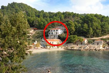 Property Uvala Torac (Hvar) - Accommodation 8653 - Apartments near sea with pebble beach.