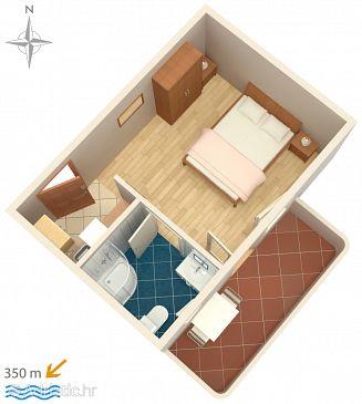 Studio flat AS-8660-c - Apartments Vinišće (Trogir) - 8660