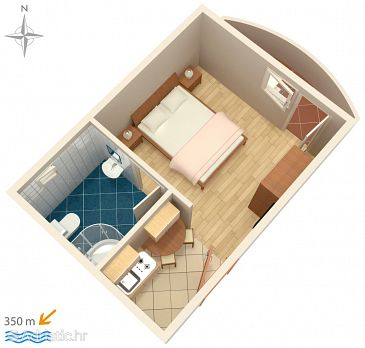 Studio flat AS-8660-d - Apartments Vinišće (Trogir) - 8660