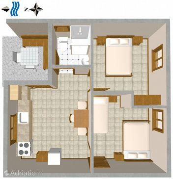 House K-876 - Vacation Rentals Telašćica - Uvala Jaz (Dugi otok) - 876