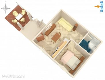 Apartment A-8920-b - Apartments Rukavac (Vis) - 8920