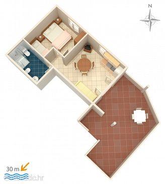 Apartment A-9036-c - Apartments Kustići (Pag) - 9036