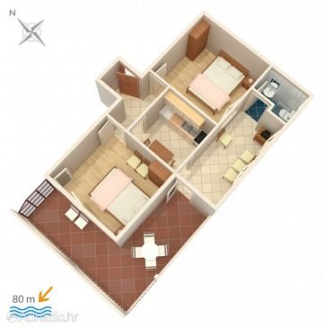 Apartment A-9037-b - Apartments Marina (Trogir) - 9037