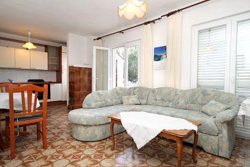 Verunić, Living room u smještaju tipa apartment, dostupna klima i dopusteni kucni ljubimci.