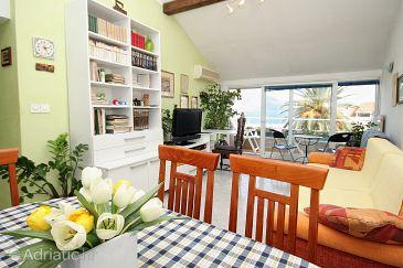 Korčula, Living room u smještaju tipa apartment, dostupna klima, dopusteni kucni ljubimci i WIFI.