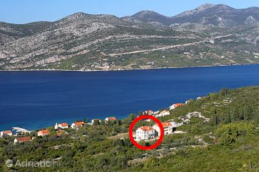 Property Kneža (Korčula) - Accommodation 9270 - Apartments with pebble beach.