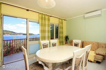 Prižba, Dining room u smještaju tipa apartment, dostupna klima i WIFI.