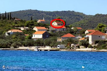 Property Lumbarda (Korčula) - Accommodation 9329 - Apartments with pebble beach.