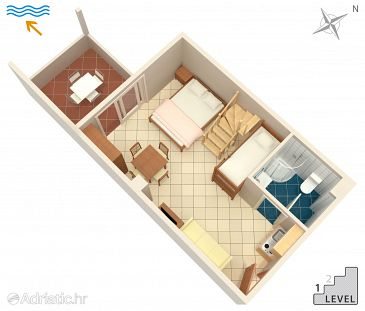 Studio flat AS-9361-g - Apartments Novalja (Pag) - 9361