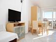 Novalja, Dining room u smještaju tipa studio-apartment, WIFI.