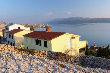 Property Vidalići (Pag) - Accommodation 9393 - Apartments with pebble beach.