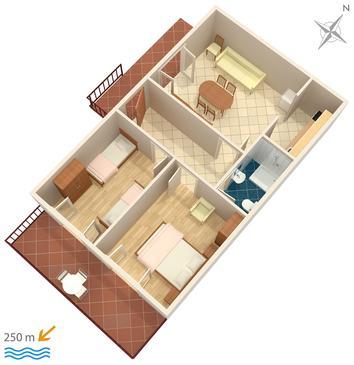 Apartament A-953-b - Apartamenty Marušići (Omiš) - 953