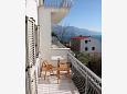 Marušići, Balcony 1 u smještaju tipa apartment, s pogledom na more i WIFI.