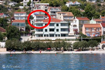 Property Marina (Trogir) - Accommodation 9677 - Apartments near sea with pebble beach.
