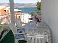 Slatine, Taras w zakwaterowaniu typu apartment, s pogledom na more i WIFI.