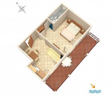 Apartament A-996-b - Apartamenty Pasadur (Lastovo) - 996