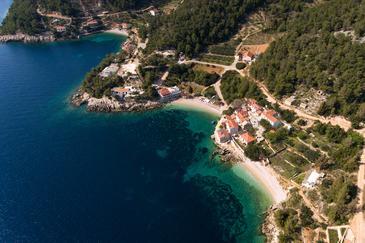 Uvala Tvrdni Dolac on the island Hvar (Srednja Dalmacija)